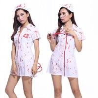 Bloody pielęgniarka sexy masquerade horror Halloween kostium dla dorosłych kobiet garnitur pielęgniarka Doktor Role Play Kostiumy