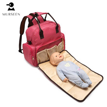 New Large Capacity Designer Red Baby Bags for Mummy Diaper Bag Backpack Baby Stroller Carriage Pram Accessories Nappy Bags R20