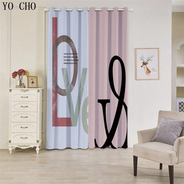 YO CHO Neue Mode einfache nähte stil rideaux pour le salon moderne ...