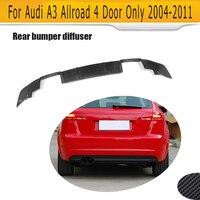 Carbon Fiber Car Racing Rear Diffuser Lip Spoiler for Audi A3 Wagon Allroad 4 Door Only 2004 2011 Four outlet Non Sedan