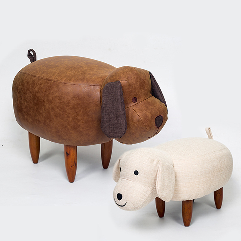 Big Sale Solid Wood Nordic Shoe Stool Pouf Chair Leather Sofa