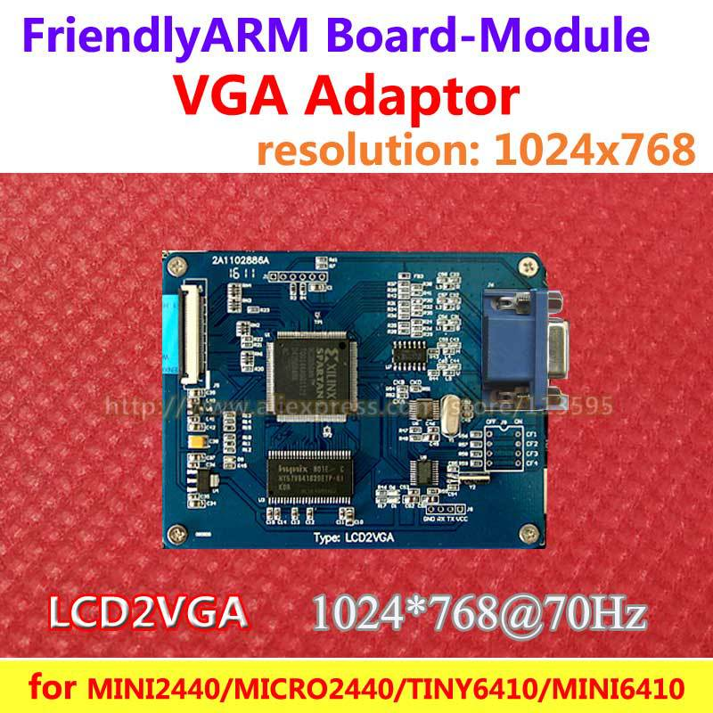 FriendlyARM  VGA LCD2VGA Adapter Conversion Module , for MINI2440 MICRO2440 TINY6410 MINI6410 Tiny210 MINI210