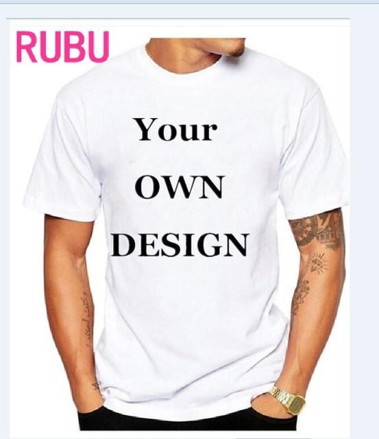 2017あなた自身のデザインブランドロゴ/画像白カスタム男性と女性tシャツプラスサイズtシャツ男性服