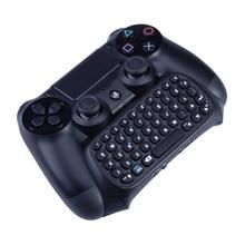 Mutilfunction 2 ב 1 Bluetooth מיני אלחוטי Chatpad הודעה מקלדת משחק קונסולות עבור Sony פלייסטיישן 4 PS4 בקר