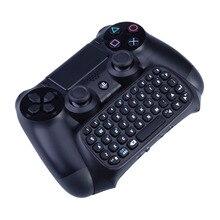 Mutilfunction 2 en 1 bluetooth mini inalámbrico chatpad teclado mensaje consolas de juegos para sony playstation 4 controlador ps4