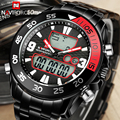 Mens Watches Top Brand Luxury Dual Display LED Digital Clock Black Full Steel Army Military Wrist Watch Male Relogios Masculino