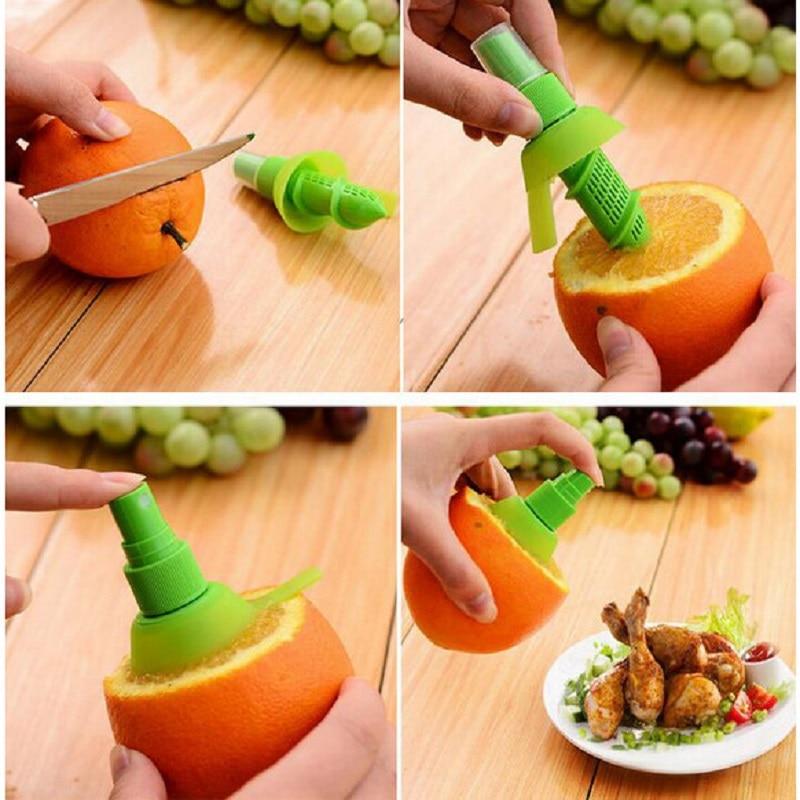 Manual de jugo de frutas pulverizador mini exprimidor citrus orange lemon cocina