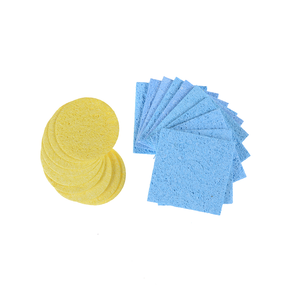 10pcs Soldering Iron Sponge Electric Welding Cleaner Cleaning Pads Cleaning Sponge High Temperature Welding Sponge wlxy wl 002 mini soldering iron stand w cleaning sponge black yellow