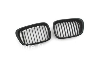 Replacement Euro Style Matte Black Front Grille For BMW E39 facelifted 5 Series