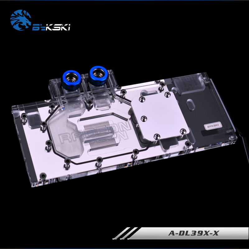 Bykski for ASUS AMD R9 390X//290X//290 DC2 Water cooling Block full-Cover cooper