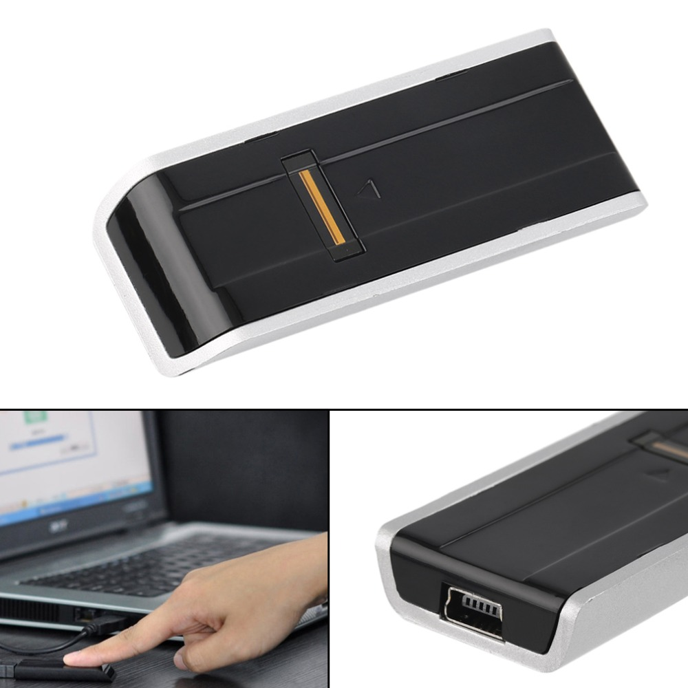Biometric USB Fingerprint Reader Security Password Lock For Laptop PC Computer Support English,Russian etc. Free Shipping