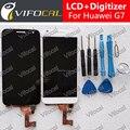 Para huawei ascend g7 lcd display touch sceen substituição do conjunto conjunto de ferramentas de alta qualidade acessórios para celular-preto branco