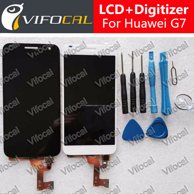 for Huawei Ascend G7 LCD Display Touch Screen Tools Set High Quality Assembly Replacement Accessory For Cell Phone -Black White for huawei ascend p7 original lcd display touch screen digitizer assembly replacement parts black white tools