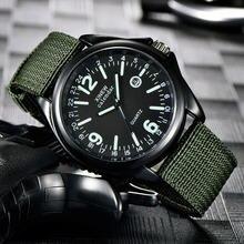 Мужские военные кварцевые армейские часы с черным циферблатом
