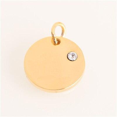 Модный Золотой/Серебряный геометрический кулон из нержавеющей стали в форме сердца и Луны для браслетов, браслетов, ожерелья, ювелирных изделий - Цвет: AC18249