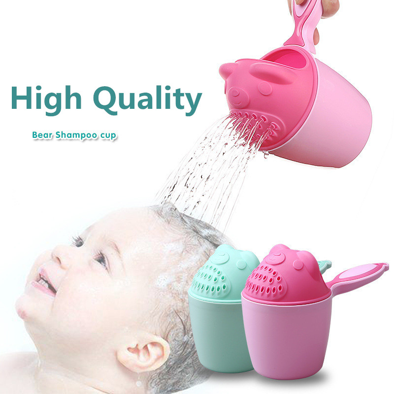 2019 New Cartoon Baby Bathing Cups Kid Shampoo Cup Tool Children Bathing Bailer Baby Shower Spoons Child Washing Hair Top Gift