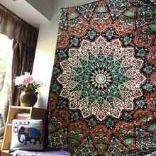 Bohemio Tapiz Tapiz 210X145 cm Sábanas Indio Mandala Tiro Alfombra de Picnic Paño Home Dormitorio Decoración de Poliéster
