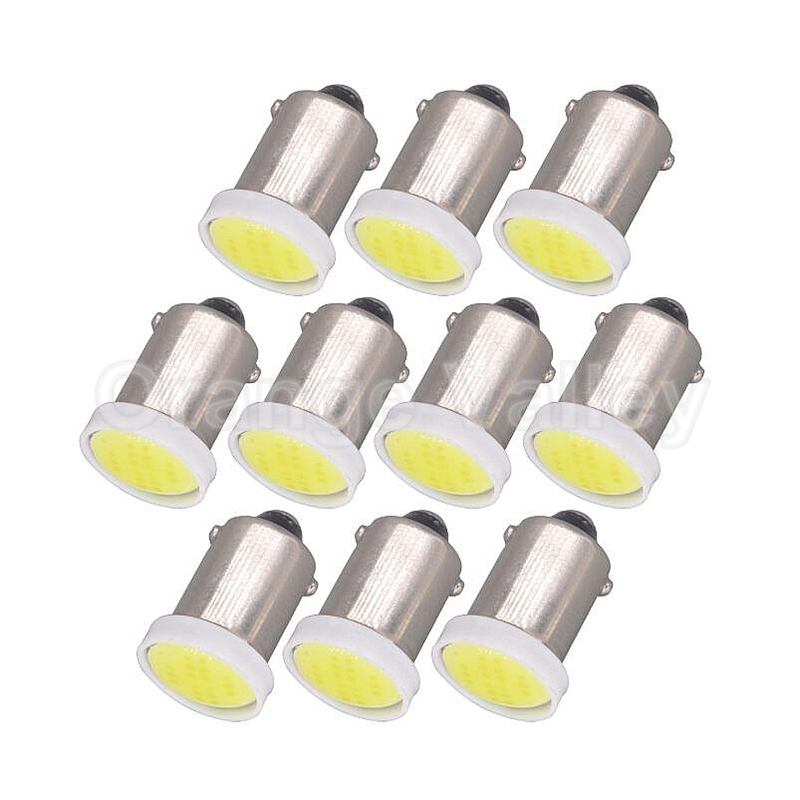 10pcs Super Bright BA9S T11 H6W 1 LED COB 6chips SMD Car Interior Lights Reading Dome Lamp Map lighting Auto Bulbs DC 12V