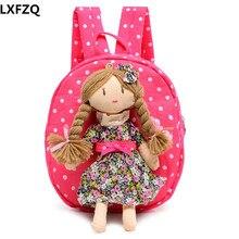 2017 NEW 3D children backpacks Canvas knapsack Cartoon Princess School Bags Girls Kindergarten Backpack Baby Bag backpack kids