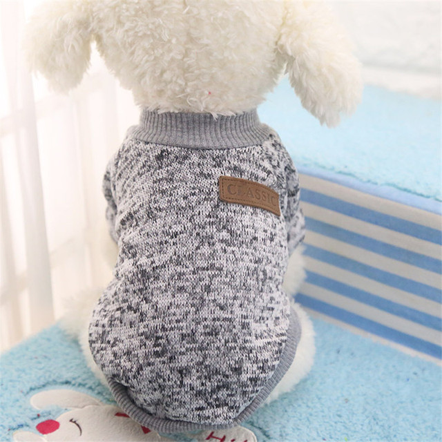 Pet Dog Clothes for dogs Classic Sweater Winter Pet Dog Coat Chihuahua Jacket Clothes Warm Cotton Cat Clothes roupa para 30