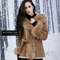Deluxe Rex Rabbit Fur Jacket Best Quality Real Fur And Skin Medium Coat Winter Warm Womens
