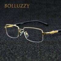 Men Women Degree Eyeglasses Frame Half Rim Finding Spectacles EyeGlasses Frame Men Women Titanium Alloy Eyeglasses Frame Eyewear