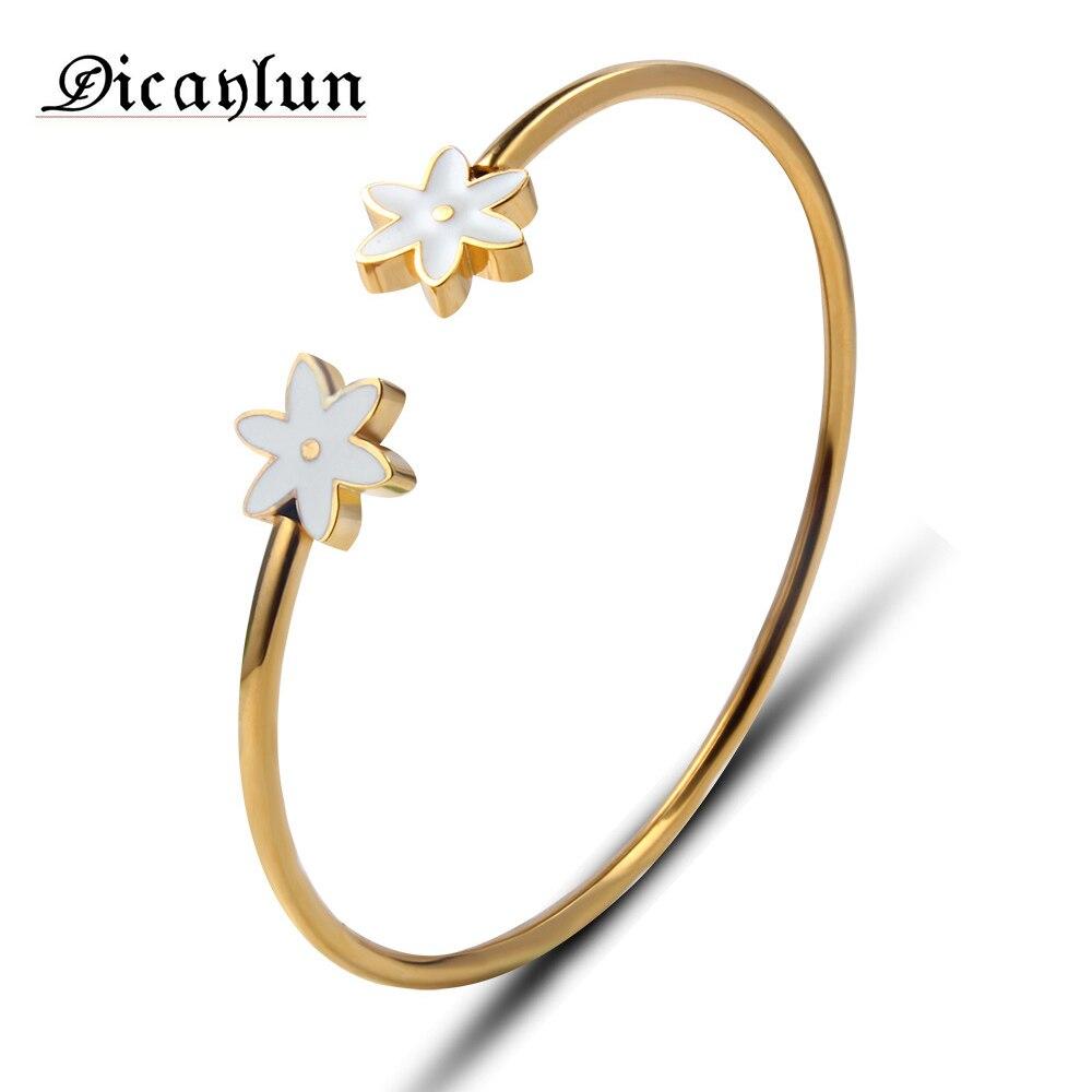 DICAYLUN friendship bracelets & bangles for girls charms bracelet femme gifts for women braslet chain stainless steel bracelet