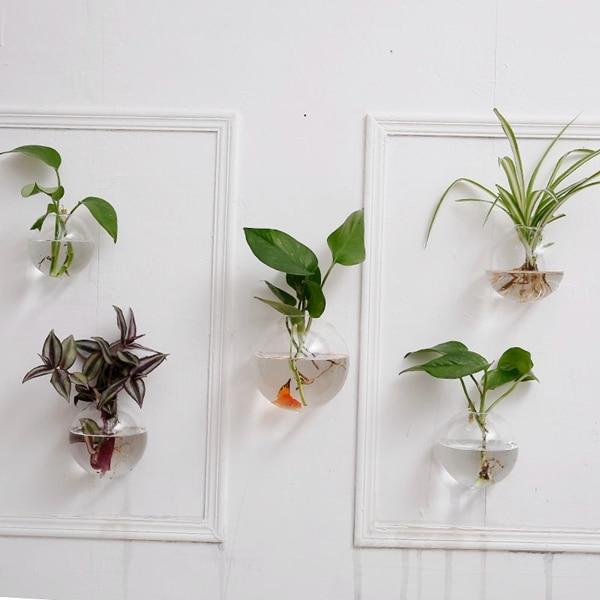 burbuja de la pared terrario pared de vidrio pecera colgante de pared jardinera florero para decoracin de la pared decoracin del hogar ornamento de la