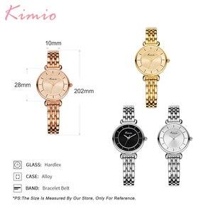 Image 5 - Kimio Gold Watch Women Watches Ladies Creative Steel Womens Bracelet Watches Female Clock Relogio Feminino Montre Femme