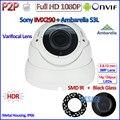 H.265 1080 P CCTV IP ONVIF 2.0MP 2.4 IMX290 Cámara IP P2P Visión Nocturna PoE cámara IP con IR-CUT, H.264, 2.8-12mm Lente HD, HDR