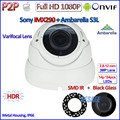 H.265 1080 P IP CCTV Câmera IP P2P ONVIF 2.0MP 2.4 IMX290 Night Vision PoE câmera IP com IR-CUT, H.264, 2.8-12mm Lente HD, HDR