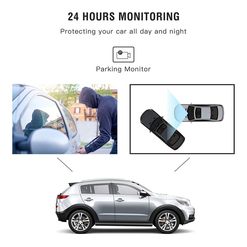 Image 3 - AUTMOR Car Dvr Mirror 4.3Inch Touch Screen FHD 1080P Car Rear View Mirror Camera Dual Lens Dash Cam Parking Monitor Black Box-in DVR/Dash Camera from Automobiles & Motorcycles
