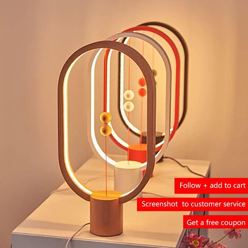 Balance Lamp LED Night Light USB Powered Home Decor Bedroom Office Table Night Lamp Novel Light Gift For Kids