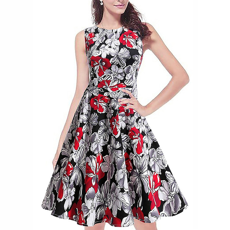 161eec79fb Fashion Women Print Dress 2017 Sexy party Summer dresses Ladie Sleeveless  Women casual Dress clothing female dresses LLD07-in Dresses from Women s  Clothing ...