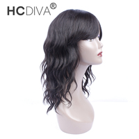 HCDIVA Hair Product Long Length 18 Inch Non Lace Human Hair Wigs Natural Wave With