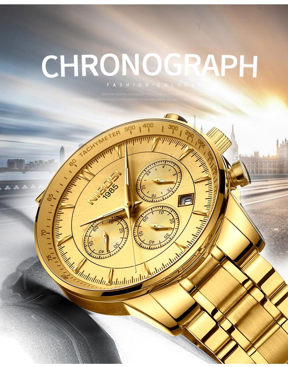 Relogio Masculino NIBOSI Quartz Watches Men Steel Band Men Watches 2018 Luxury Brand Waterproof Wrist Watches For Men Brand Saat (2)