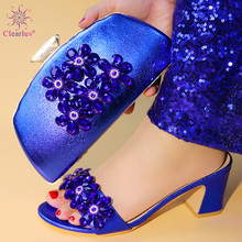 Italian-Shoes Luxury Sandals Purse Decorated Matching-Bags-Set Party-Pumps Women Latest