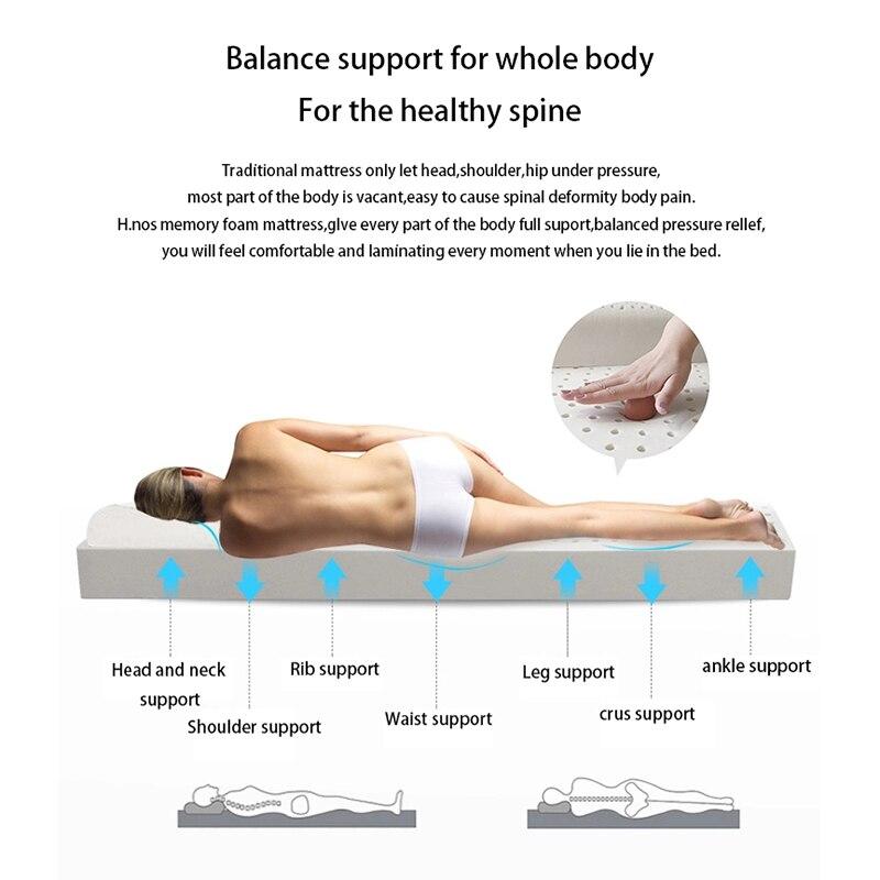 Body Massage Comfortable Latex Mattress 5CM Thickness Cervical Vertebra Neck Protector Single Double Twin Queen Size Mattress