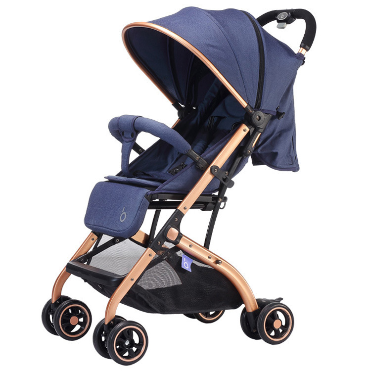 High landscape light baby stroller can lie can sit  folding travel easy  on the airplane the baby stroller of the aimile can sit on a bb cart in the four seasons of high landscape folding
