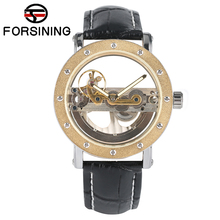 New Luxury Business Hollow Automatic Mechanical Self Wind Watch Men Black Leather Wrist Watches Transparent Skeleton for Dad все цены
