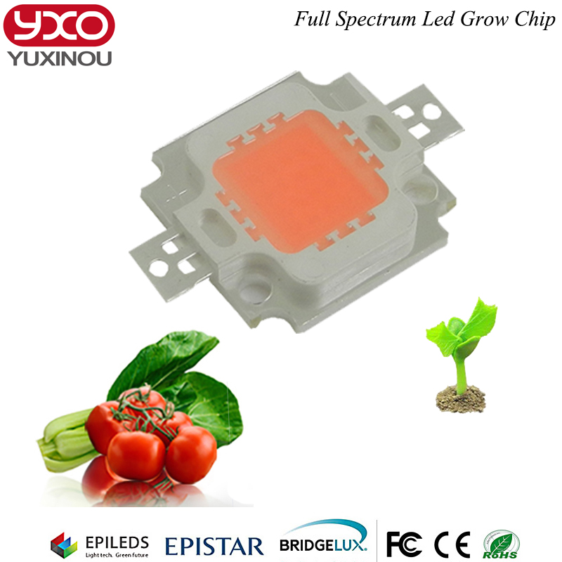 1pcs High Power 16w 12v LED Chip Full Spectrum DIY Grow Light Lamp Beads 16W 380nm - 840nm For Plants
