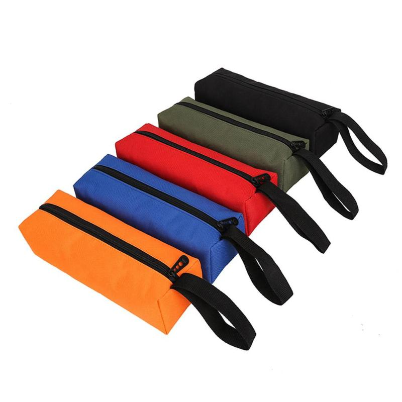 Oxford Canvas Waterproof Storage Hand Tool Bag Screws Nails Drill Bit Metal Parts Fishing Travel Makeup Organizer Pouch Bag Case