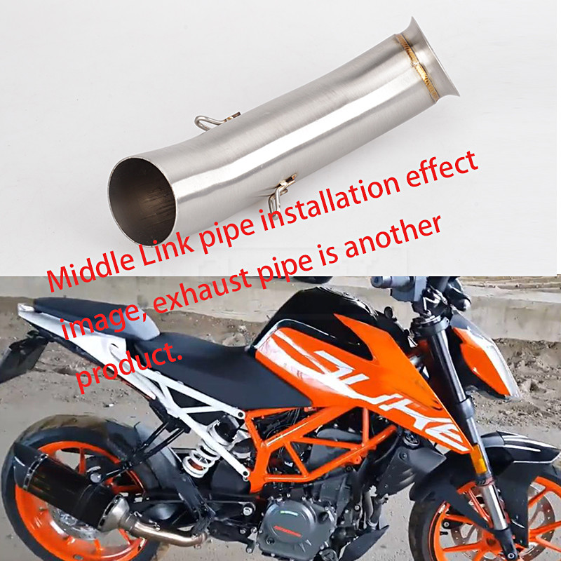 Motorcycle Exhaust Silencer Middle Link Pipe Moto Escape Accessories For KTM DUKE 390 250 RC 390 RC390 2017 2018 17 Slip-on ...