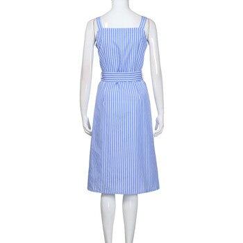 Blue Striped Bandage Dress 4