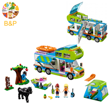 Legoing 41339 das 546 pcs Amigos Série A Mia Camper Van Modelo Building Blocks Brinquedos Para Crianças Presente de Aniversário 01062 Lepin