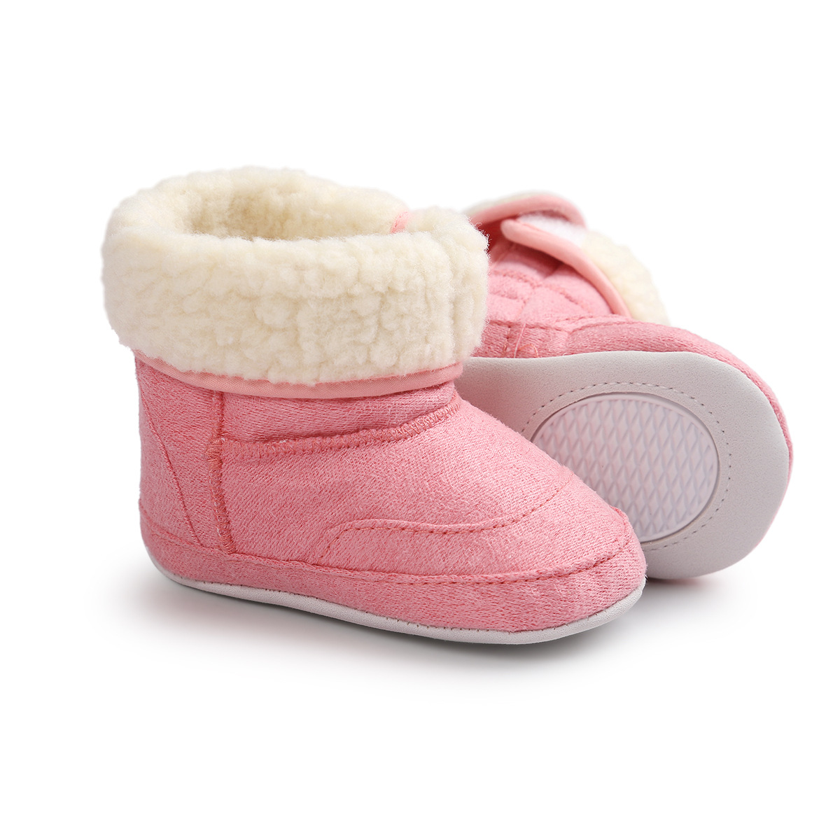 ROMIRUS 2017 Winter New Color Baby Snow Boots 0 and 1 Year Old Baby Shoes Soft Bottom Toddler Shoes 0065
