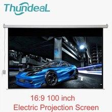 ThundeaL 100 zoll 16:9 Elektrische Projektor Bildschirm Motorisierte Projektionswand für LED DLP Projektor Elektrische Mit Fernbedienung