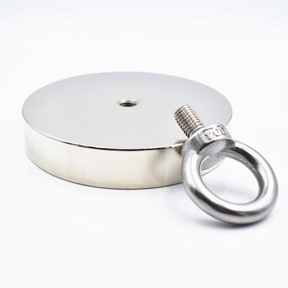 Neodymium magnet D107x20mm super Strong powerful search magnet hook 550kg magnetic fishing salvage permanent NdfeB holder