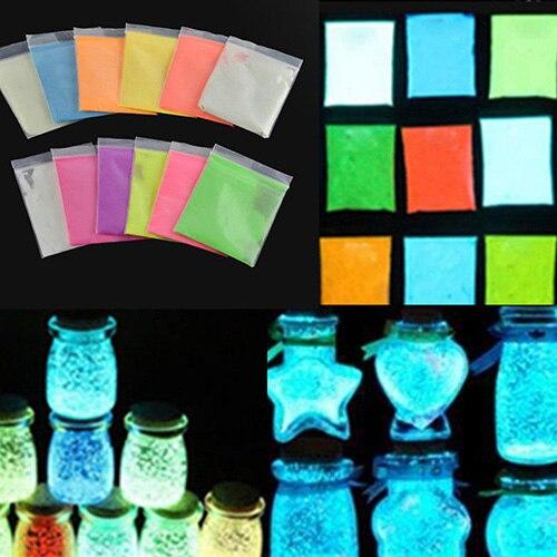 Super Bright Glow in the Dark Environmental Fluorescent font b Powder b font DIY Glow Pigment