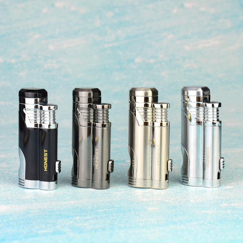 New arrive Honest Lighter Double Torch Jet Flame gas